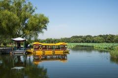 L'Asie Chine, Pékin, le palais d'été, scène de lac, un bateau de croisière Photo libre de droits