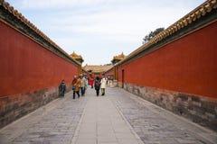 L'Asie Chine, Pékin, le palais impérial, les murs rouges, Photo stock