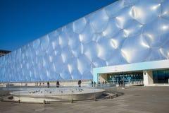 L'Asie Chine, Pékin, les Aquatics nationaux centrent, l'aspect de bâtiment Photographie stock