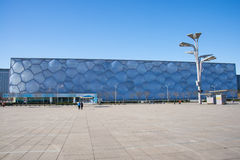 L'Asie Chine, Pékin, les Aquatics nationaux centrent, l'aspect de bâtiment Photographie stock libre de droits
