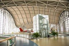 L'Asie Chine, Pékin, musée d'aviation civile, hall d'exposition d'intérieur Photographie stock