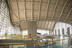 L'Asie Chine, Pékin, musée d'aviation civile, hall d'exposition d'intérieur Photo libre de droits