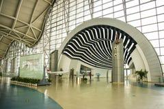 L'Asie Chine, Pékin, musée d'aviation civile, hall d'exposition d'intérieur Photographie stock libre de droits