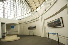 L'Asie Chine, Pékin, musée d'aviation civile, hall d'exposition d'intérieur Images libres de droits
