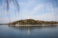 L'Asie Chine, Pékin, parc de Beihai, paysage tôt de ressort photo libre de droits