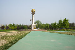 L'Asie Chine, Pékin, parc de palais de Sun, ¼ Œ d'architectureï de paysage Image libre de droits