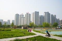 L'Asie Chine, Pékin, parc de palais de Sun, ¼ Œ d'architectureï de paysage Photographie stock libre de droits