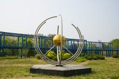L'Asie Chine, Pékin, parc de palais de Sun, plate-forme de ŒViewing de ¼ d'architectureï de paysage, sculpture en paysage Photo libre de droits