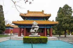 L'Asie Chine, Pékin, parc de Zhongshan, bâtiments antiques, palais, pierre de Œlandscape de ¼ de Pavilionï Images libres de droits