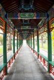 L'Asie Chine, Pékin, parc de Zhongshan, couloir, structure de perspective Photo libre de droits
