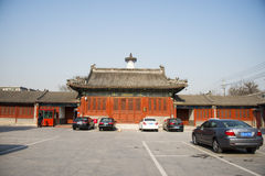 L'Asie Chine, Pékin, temple de Baita, architecture classique Image stock