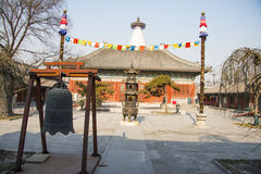 L'Asie Chine, Pékin, temple de Baita, architecture classique Photo stock