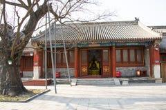 L'Asie Chine, Pékin, temple de Baita, hall classique de Œpalace de ¼ d'architectureï Photographie stock libre de droits