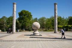 L'Asie Chine, Pékin, Yang Shan Park, poteau de totem Photographie stock libre de droits
