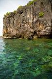 l'Asie dans la baie phangan d'îles de kho photographie stock