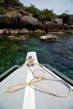 l'Asie dans la baie phangan d'îles de kho bascule la corde photo stock