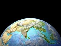 L'Asie de l'espace illustration stock