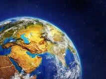 L'Asie de l'espace illustration de vecteur