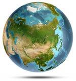 L'Asie de l'espace rendu 3d Images libres de droits