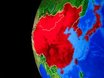 L'Asie de l'Est de l'espace illustration libre de droits