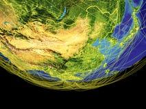 L'Asie de l'Est de l'espace sur terre illustration stock