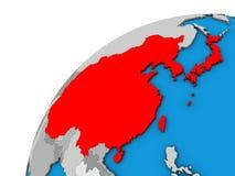 L'Asie de l'Est sur le globe 3D illustration de vecteur