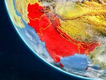 L'Asie du sud de l'espace sur terre illustration de vecteur
