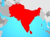 L'Asie du sud sur la carte illustration de vecteur