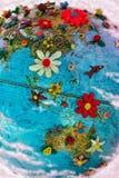 l'Asie et l'Australie fleuries Photo stock