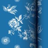 l'Asie florale et l'oiseau illustration de vecteur