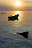 l'Asie le soleil phangan Thaïlande de coucher du soleil d'île de baie de kho images stock