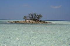 l'Asie. Maldive, naissance du petit atoll Image libre de droits