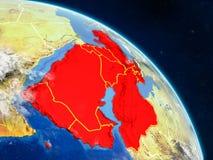 L'Asie occidentale de l'espace illustration libre de droits