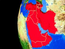 L'Asie occidentale de l'espace illustration stock