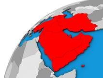 L'Asie occidentale sur le globe 3D illustration de vecteur