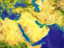 L'Asie occidentale sur terre illustration stock