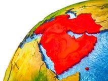 L'Asie occidentale sur terre 3D illustration libre de droits