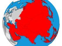 L'Asie sur la carte 3D illustration libre de droits