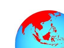 L'Asie sur le globe illustration libre de droits
