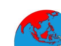 L'Asie sur le globe 3D illustration libre de droits