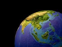 L'Asie sur terre avec des frontières illustration libre de droits