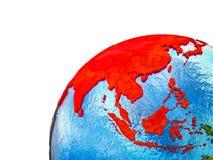 L'Asie sur terre 3D illustration libre de droits