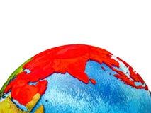 L'Asie sur terre 3D illustration de vecteur