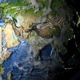 L'Asie sur terre - fond océanique évident Photographie stock
