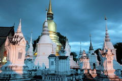 L'ASIE THAÏLANDE CHIANG MAI WAT SUAN DOK Image stock