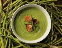 L'asparago soup Fotografie Stock Libere da Diritti