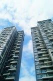 L'aspect architectural des bâtiments résidentiels images stock