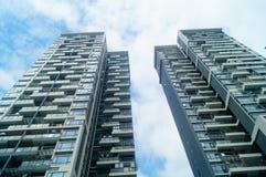 L'aspect architectural des bâtiments résidentiels image libre de droits