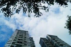 L'aspect architectural des bâtiments résidentiels image stock