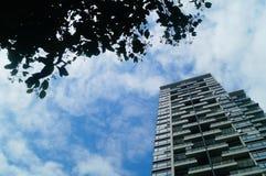L'aspect architectural des bâtiments résidentiels photos libres de droits